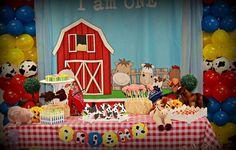 Red Balloon Events P's Birthday / Farm - Photo Gallery at Catch My Party Farm Birthday Cakes, Boy Birthday Parties, Birthday Party Decorations, Birthday Ideas, Farm Theme, Baby Boy Shower, First Birthdays, Red Balloon, School Stuff