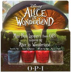 Alice in Wonderland Nail DIY | new Alice in Wonderland movie coming out this Friday - the newest nail ...