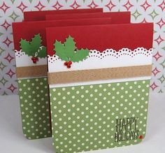 Handmade Christmas cards, exactly like homemade Christmas gift baskets and hampers. They are the very best approach to add your personal touch to the yearly Christmas holiday. Christmas Card Crafts, Homemade Christmas Cards, Christmas Cards To Make, Homemade Cards, Christmas Holidays, Christmas Carol, Christmas Tree, Happy Holidays, Scrapbook Christmas Cards
