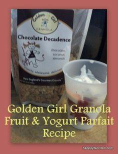 Granola fruit & Yogurt parfait - easy snack idea!