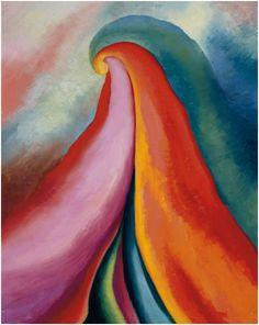Georgia O'Keeffe, Series I, No. Oil on canvas, 20 × 16 in. Städtische Galerie im Lenbachhaus, Munich. Gift of The Georgia O'Keeffe Foundation. © Georgia O'Keeffe Museum/Artist Rights Society (ARS) Georgia O'keeffe, Alfred Stieglitz, Wisconsin, Abstract Landscape, Abstract Art, Georgia O Keeffe Paintings, Pop Art, Street Art, Pierre Jeanneret