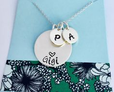 A personal favorite from my Etsy shop https://www.etsy.com/listing/488198450/grandma-necklace-sterling-silver-grandma