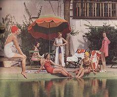 Poolside beauties, 1935
