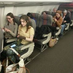 Knitting on a plane... in the museum of science and industry #knitin #artschool