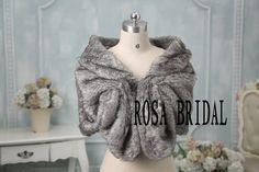 faux fur bridal wrap shrug stole shawl cape wedding by rosabridal