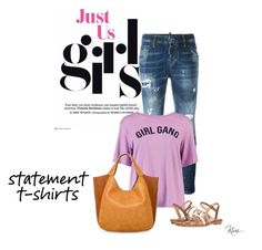 """""""Statement T-shirts"""" by ksims-1 ❤ liked on Polyvore featuring Dsquared2, Boohoo, MICHAEL Michael Kors and Urban Originals"""