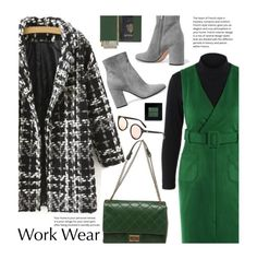 """""""Work Wear"""" by beebeely-look ❤ liked on Polyvore featuring Royce Leather, Chanel, Gianvito Rossi, Bobbi Brown Cosmetics, WorkWear, coat, officestyle, twinkledeals and Dressunder50"""