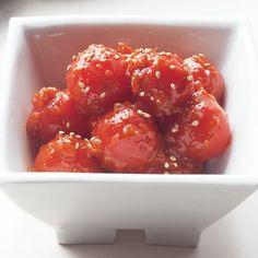 あえるだけでミニトマトの甘みが引き立つ「トマトキムチ」のレシピです。プロの料理家・外処佳絵さんによる、ミニトマト、おろししょうがなどを使った、1人分58Kcalの料理レシピです。