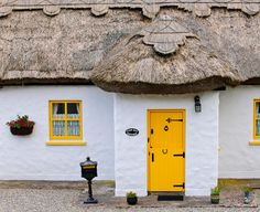 Thatched roof cottage, County Mayo. Ireland.  2 Grandparents were from County Mayo.  Have to get there.