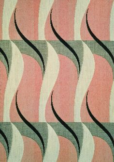 jacquard, textile design by warner & sons, 1934