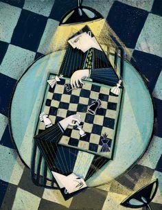 """Illustration for """"Zwierciadło"""" - . 01/2014 by Gosia Herba"""