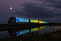 Doug Aitken's mobile museum- Train Converted Into Travelling Collaborative Art Gallery