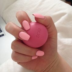 Nails and EOS lip balm