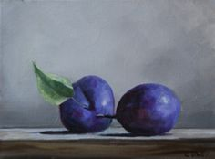 Plums - a Still Life Painting by Christina Dowdy