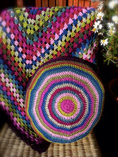 Rowan pure new wool throw and cushion