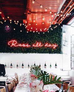 GARDEN: This on the green wall in the upper deck. Major insta opportunity. And we can even turn it into 'Le Petit Rose all day'. Or whether we keep 'Rose all day' lit up and include a LPR or JC logo below the 'day' somehow.