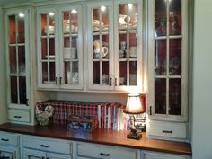 Love my built-in china cabinet!