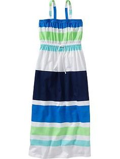 Olivia picked this, and I agree.... it's too cute! I love it! I will not, however, be buying any tank top style dresses or shirts for back to school. Girls Maxi Sundresses