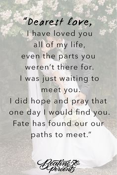 Forever I will, Always love you as I did when we first met.