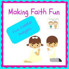 Making Faith Fun, Toddler Prayers, Tuesday's Toddler Tales linky