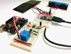 A time switching battery powered solar charged circuit, used to power an Arduino Uno and some peripherals. By Igor Fonseca Albuquerque.