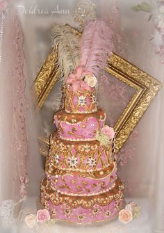 Suzy Homefaker: Pink Dream Baroque Wedding Cake