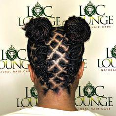 dreadlock hairstyles (SWIPE) Twisted Cornrows into buns Book in bio! Short Dread Styles, Dreads Styles For Women, Short Dreadlocks Styles, Short Locs Hairstyles, Short Dreads, Dreadlock Styles, Twist Hairstyles, Black Hairstyles, Locs Styles