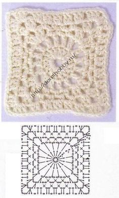 Some crochet squares patterns