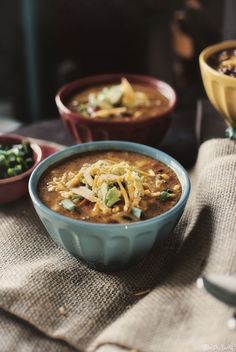 Slow Cooker Taco Soup - Vegan with a few basic substitutions like beef crumbles, no-chicken broth, and vegan cheese