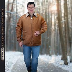 Veste tendance grande taille pour homme #homme #fort #veste #hiver #bigsize #grandetaille #xxl Sweat Shirt, Blazer, Raincoat, Bomber Jacket, Jackets, Fashion, Plus Size Clothing, Jacket Men, Man Women