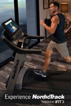 Get Interactive Personal Training at Home on the Commercial 2950 treadmill from NordicTrack. Gym Workouts, At Home Workouts, Full Body Workout Routine, Commercial, Fitness Photos, Courses, Treadmill, Workout Programs, Yoga Poses