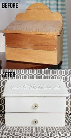 wooden mailbox to shabby chic charging station, crafts, repurposing upcycling, shabby chic, storage ideas