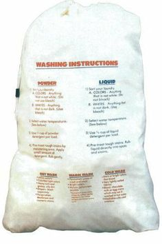 Innovative Home Creations 2375 Cotton with Printed Washing Instructions 24 INCH x 36 INCH- Pack of 2 by Innovative Home Creations. $15.40. Great Gift Idea.. Design is stylish and innovative. Satisfaction Ensured.. Manufactured to the Highest Quality Available.. COTTON LAUNDRY BAG WITH PRINTED LAUNDRY INSTRUCTIONS (2375). The washing instructions laundry bag features durable poly-cotton construction and is machine washable. The bag features a drawstring closure w...