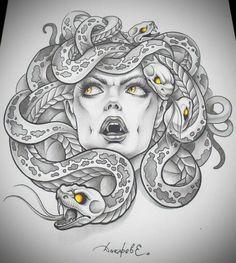 tattoo tatoo medusa tattoo neat tattoo tattoo s drawings tattoo motive . Medusa Tattoo Design, Tattoo Design Drawings, Tattoo Sketches, Tattoo Designs, Tattoo Ideas, Drawing Tattoos, Eye Drawings, Medusa Kunst, Medusa Art