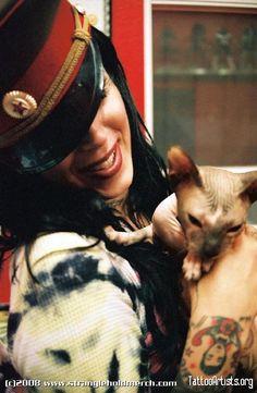 Kat Von D and her beautiful cat