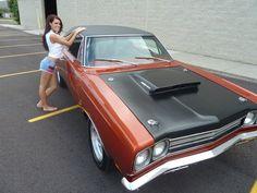 69 RR Hemi Hemi Girl Click to Find out more - http://fastmusclecar.com/car-girls/69-rr-hemi-hemi-girl/ COMMENT.