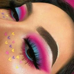 Fabulous Eye Make-up Concepts For You; Smoking Eyes Make-up; Makeup Eye Looks, Eye Makeup Art, Colorful Eye Makeup, Cute Makeup, Makeup Inspo, Eyeshadow Makeup, Makeup Ideas, Maybelline Eyeshadow, Colourpop Cosmetics