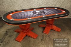 Check out the Custom Graphics on this BBO Poker Tables - Rockwell Poker Table. This would make a good Game Table. www.bbopokertables.com/
