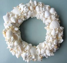Beach Decor Seashell Wreath  Nautical Decor von beachgrasscottage