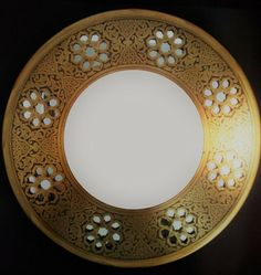 Hand-Made Brass Wall-Mounted Decorative Mirror - Eastern Design Islamic Designs, Brass Mirror, Rustic Frames, Beveled Glass, Wall Hangings, Antique Gold, Wall Mount, Handmade, Ebay