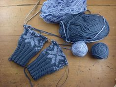 Fair Isle mittens.... worked 2 at a time.... on one circular needle.... with 4 strands of yarn... hell yeah! #knitting