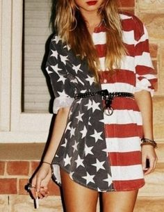 Flag Dress. Stars and Stripes Dress.