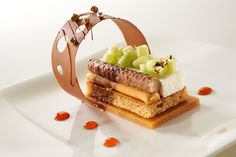 competition plated dessert