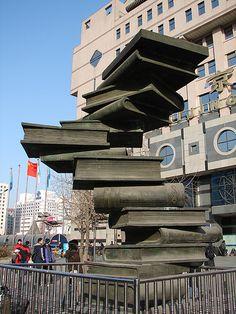 Beijing book statue