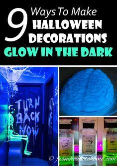 9 Ways To Create Glow In The Dark Halloween Decorations
