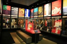 Colorful backlit displays at National Sports Museum