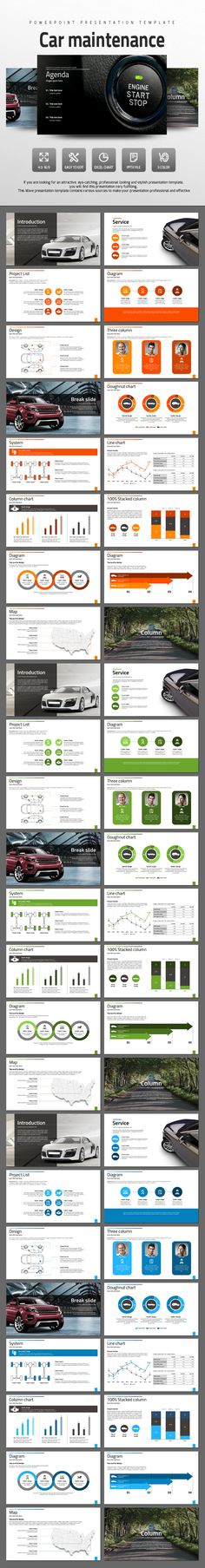 Car Maintenance - PowerPoint Templates Presentation Templates