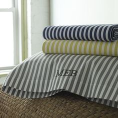 Product Images | west elm. Yellow stripe sheets