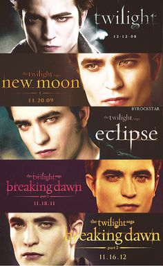 The Twilight Saga: Twilight, New Moon, Eclipse, Breaking Dawn 1, Breaking Dawn 2!!