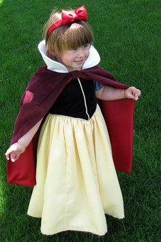 Child's Snow White Costume Custom Made. So cute! <3